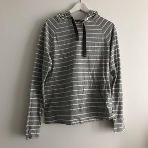 Under armor semi fitted striped Hoodie sweatshirt